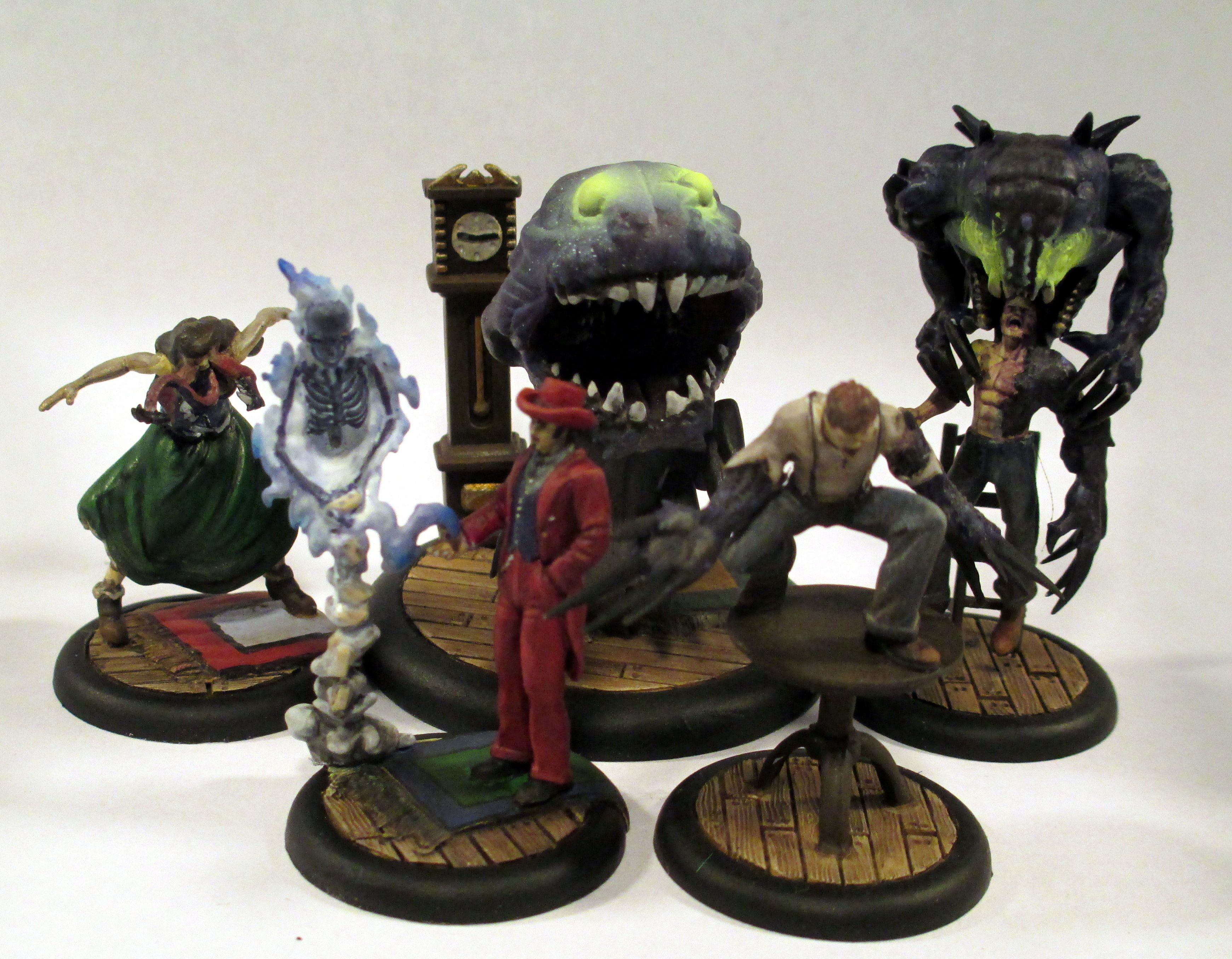 The Arcanists//Ten Thunders Wyrd Miniatures Malifaux Rail Crew