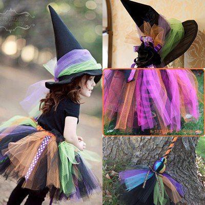 Tutorial fotografici per realizzare un costume da strega per bambina fai da  te 6620179efdce