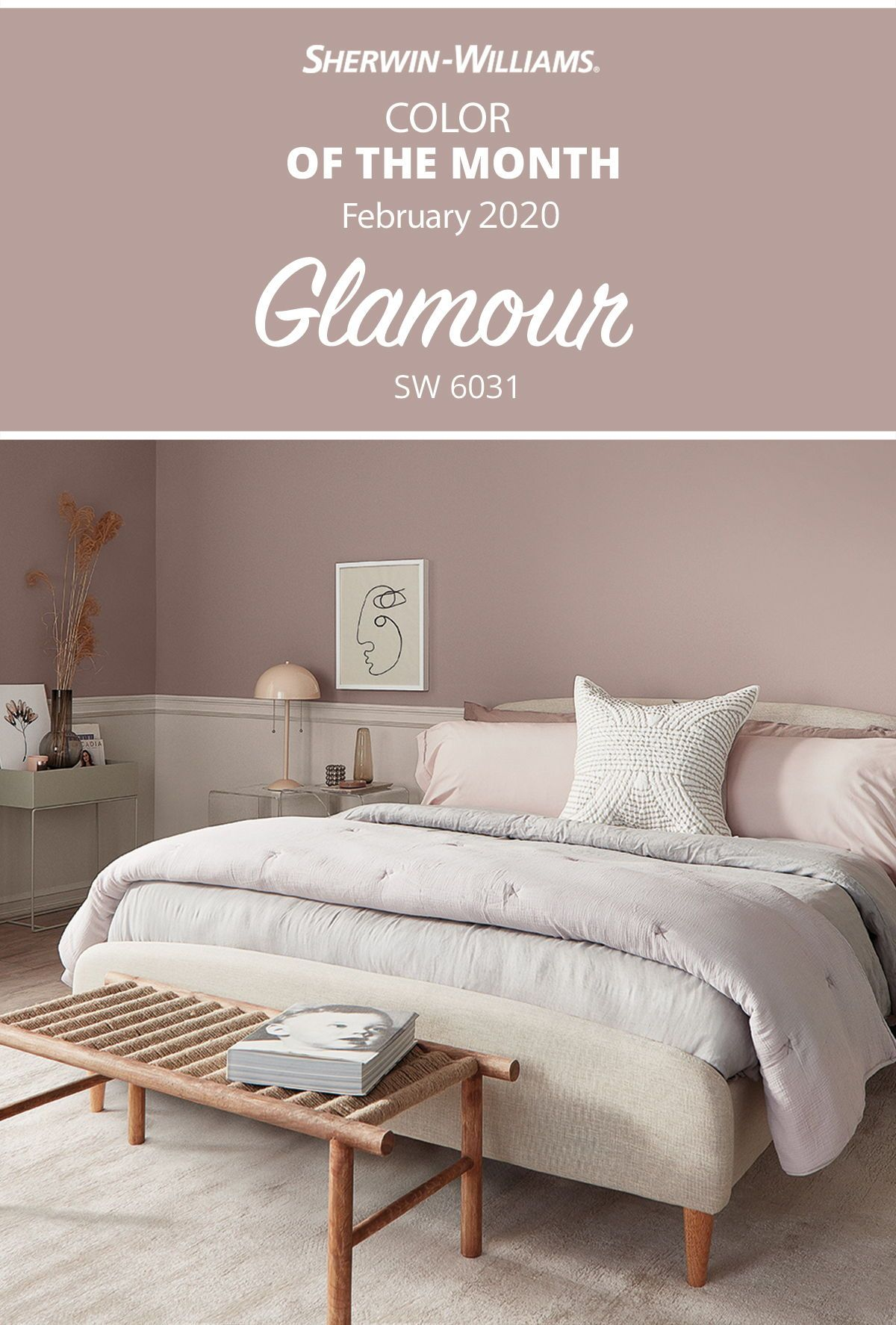 February Color Of The Month Sherwin Williams In 2020 Bedroom Paint Colors Sherwin Williams Bedroom Wall Colors Master Bedroom Colors