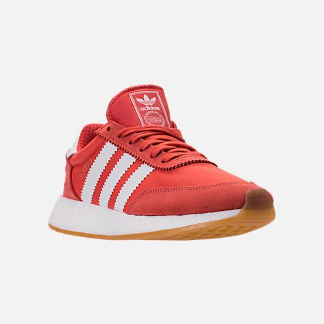 Three Quarter view of Women s adidas I-5923 Runner Casual Shoes in Trace  Scarlet White Gum dd93c0f82