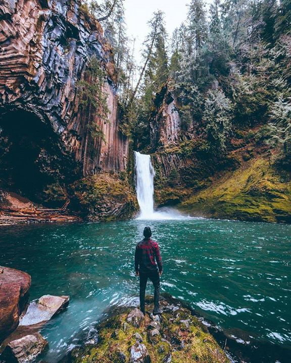 What a beautiful sight Toketee Falls Oregon Spencer Cotton Say