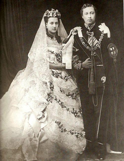 fotografía de la boda del futuro rey eduardo vii con la princesa