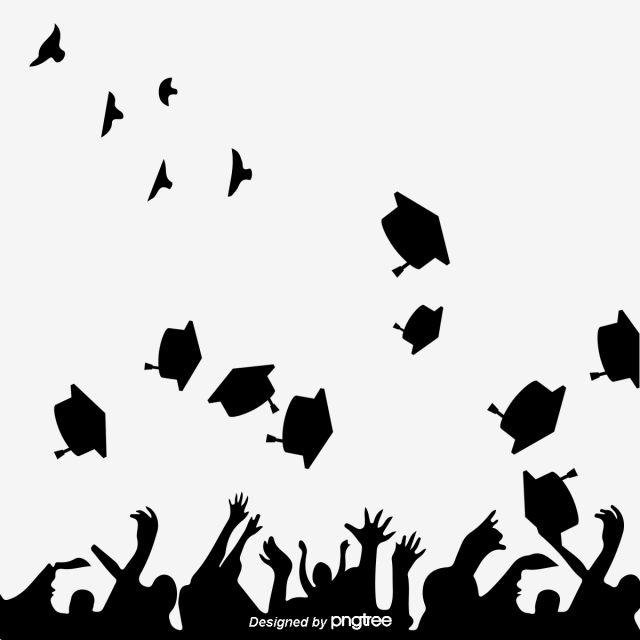 صورة ظلية إبداعية من قبعة التخرج ساركوزي أبيض وأسود خيال غطاء البكالوريوس يحتفل Png وملف Psd للتحميل مجانا Black And White Artwork Black And White Cartoon Graduation Silhouette