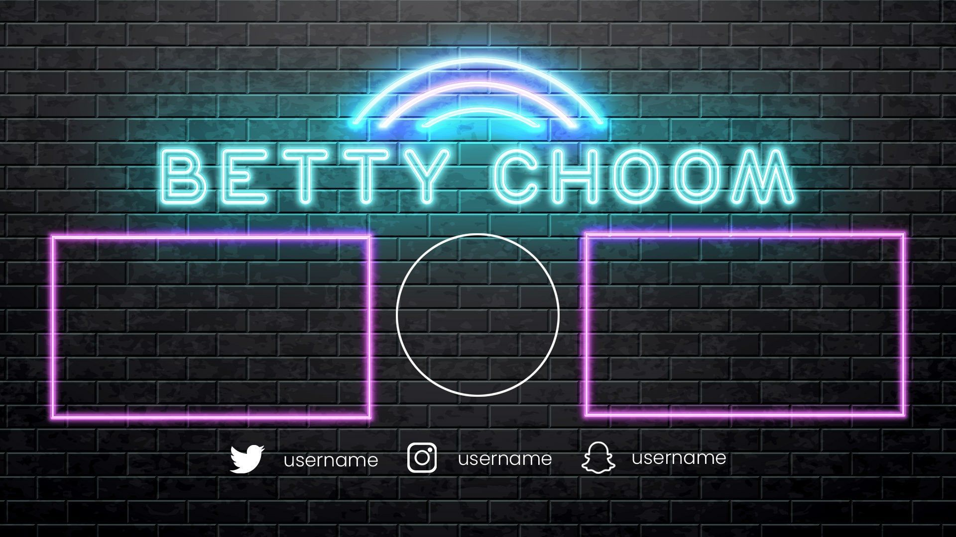 Customizable Flickering Neon Lights Tumblr Youtube Outro Image 0 Logotipo Do Youtube Ideias Para Videos Do Youtube Imagens Para Banner