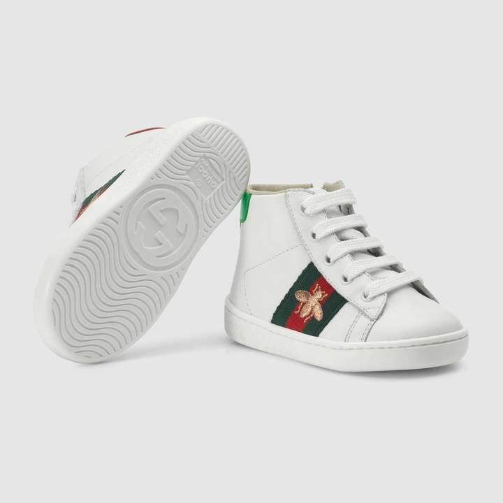 d30ab435457 Gucci Toddler Ace leather high-top sneaker in 2019 | Products ...