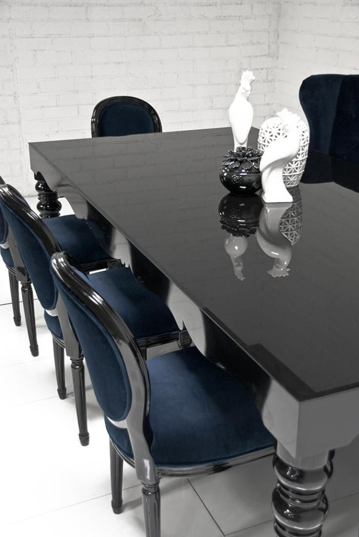 Bel Air Dining Table In High Gloss Black Dinning Table Design Home Interior Design Modern Dinning Table