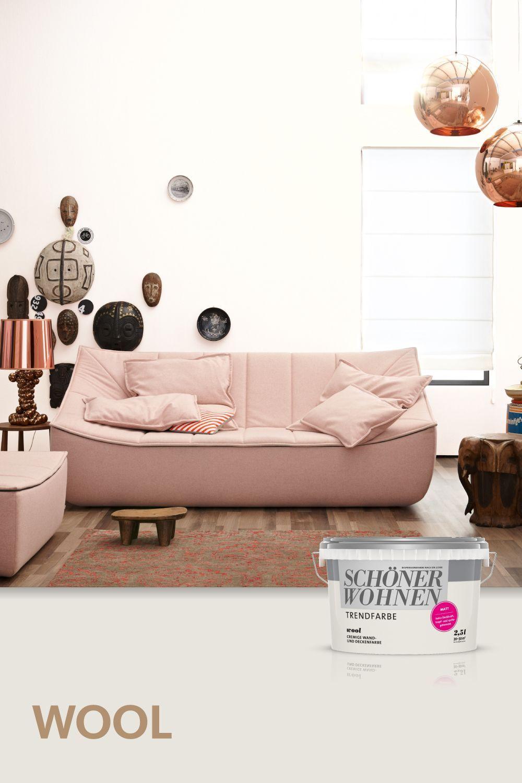 Trendfarbe Wool Schonerwohnen Wool Eine Der Originalen Trendfarben Von Schoner Wohnen Farbe In 2020 Furniture Home Decor