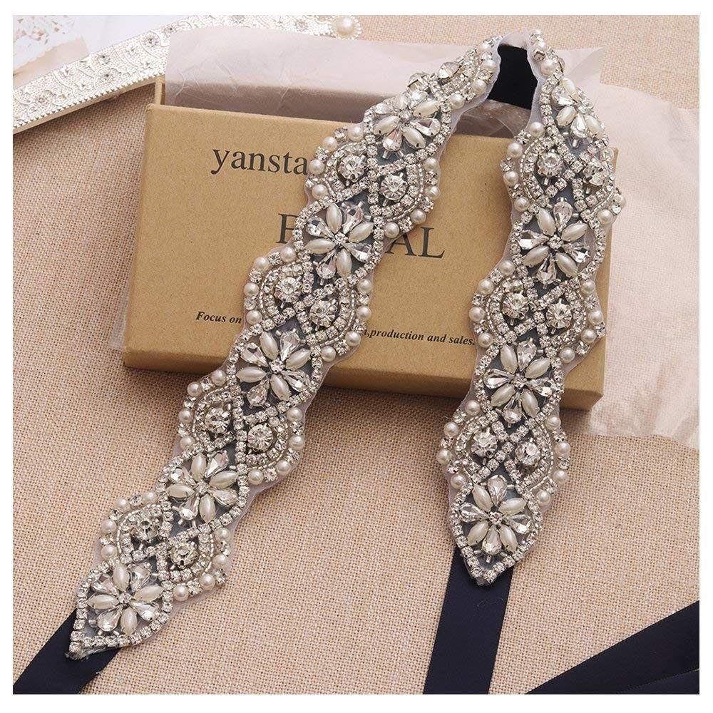 Rhinestone Crystal Pearl Belts Wedding Bridal Belts Bridal
