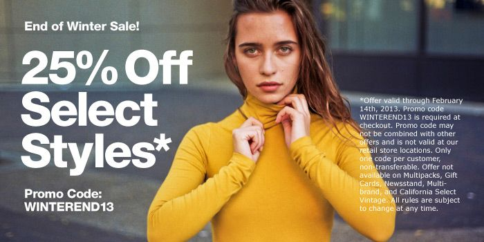 End of Winter | Shop American Apparel