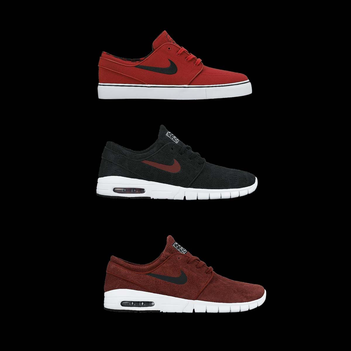 Red alert! We ve got new colors of the Nike Zoom Stefan Janoski + Stefan  Janoski Max. Grab  em while they re hot. b1accd34ad45