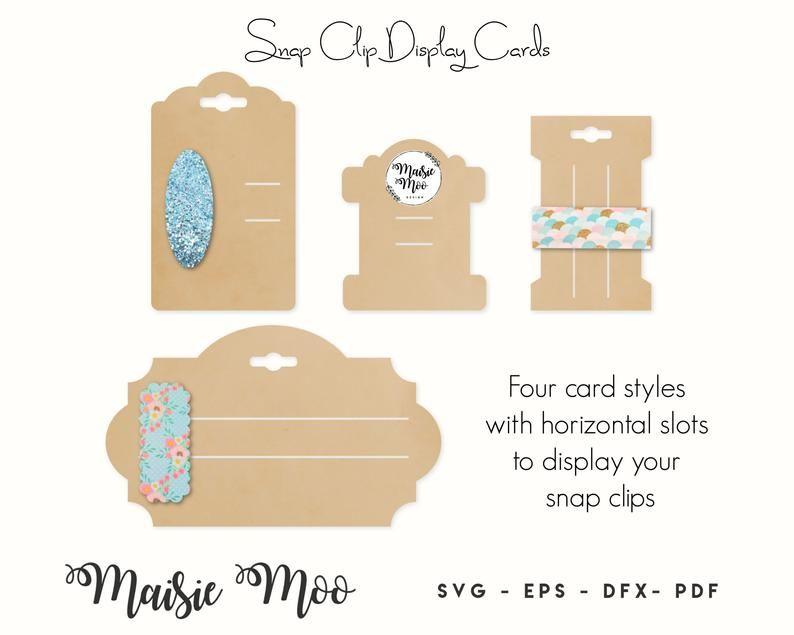 Snap Clip Display Card Svg Bow Display Card Hair Clip Card Etsy In 2020 Bow Display Display Cards Cards
