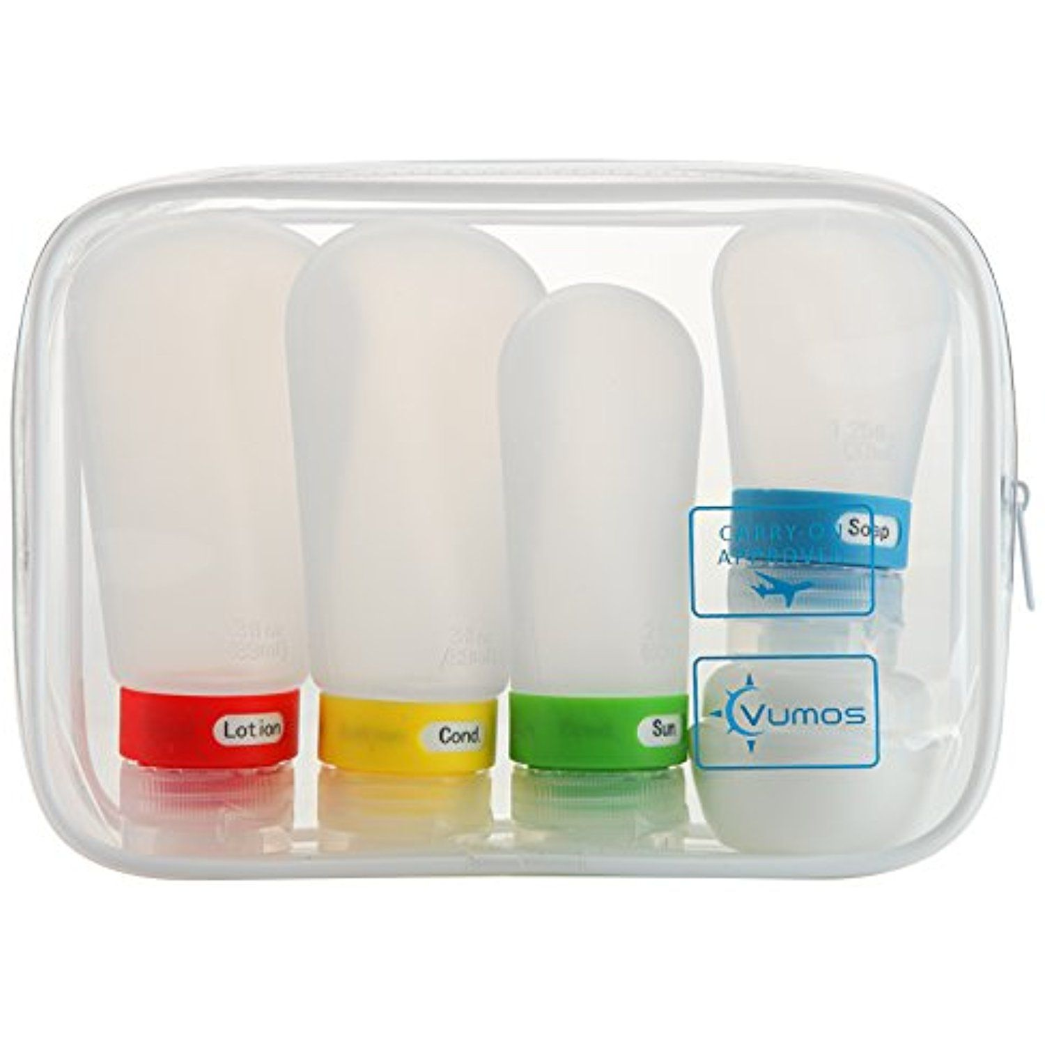 Travel Bottle Set with Leak Proof Silicone Bottles and Cream Jar in TSA  Approved EVA Bag. Suitable for all Toiletries such as Shampoo and  Conditioner. c891979a1923d