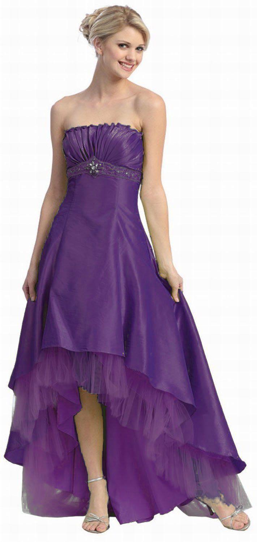 Long short bridesmaids high low dress formal prom dresses i love