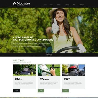 Joomla Template for Lawn Styling Website