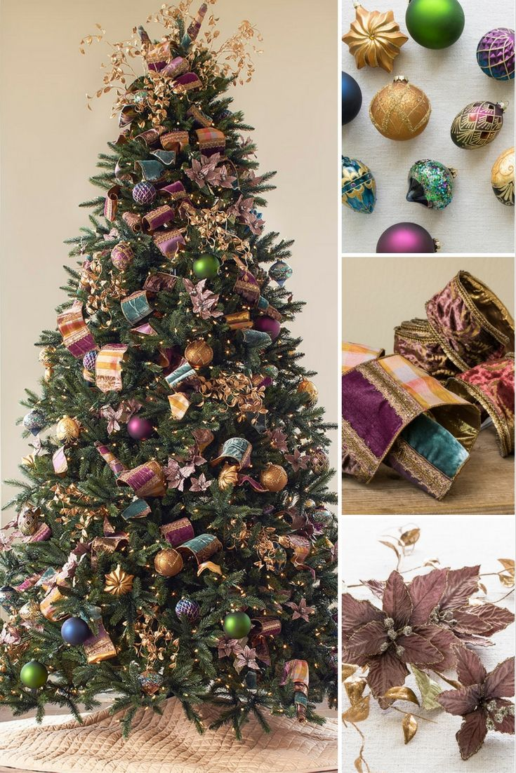 Add Vibrance To Your Holiday Home With Rich Jewel Tones Green Christmas Tree Decorations Holiday Christmas Tree Christmas Crafts Decorations