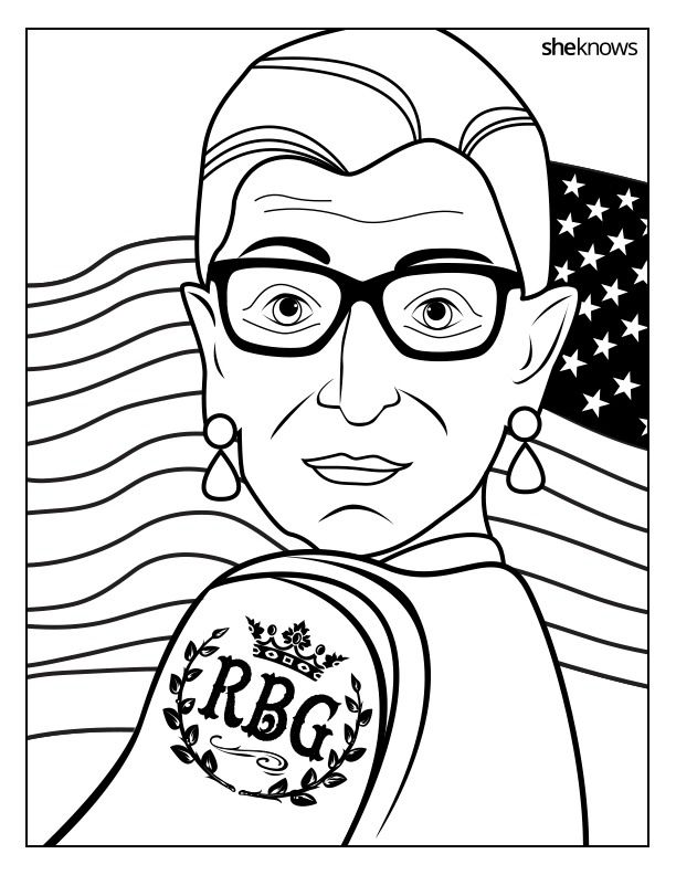 Bustle Coloring Books Coloring Pages Ruth Bader Ginsburg