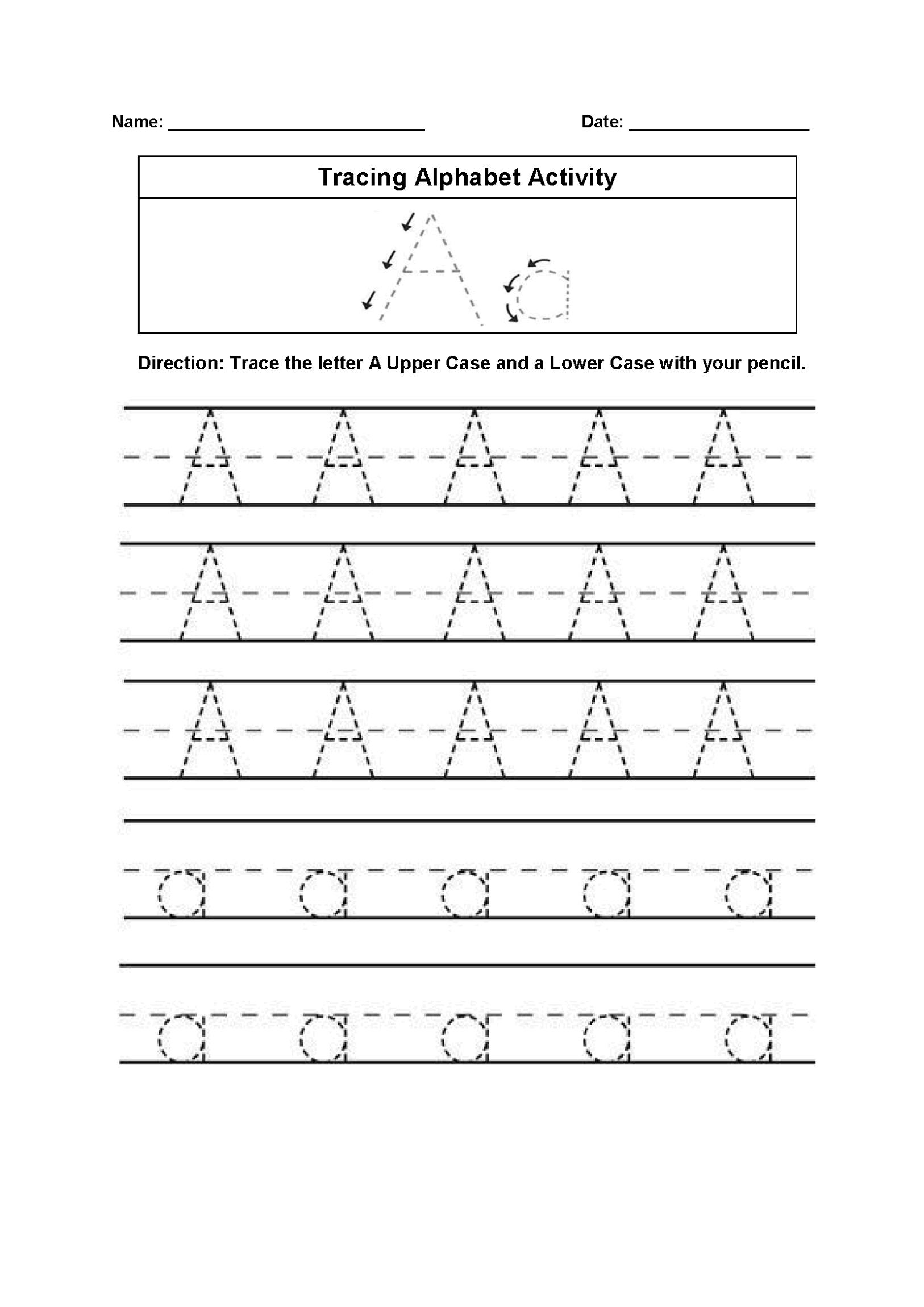 English Alphabet Worksheet In