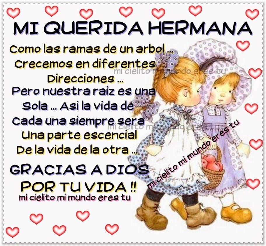 Frase Linda Para Mi Hermana Poemas De Cumpleaños Frases