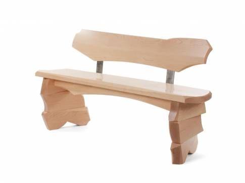 Ara #maple and #stainless #steel #bench #Mecox #interiordesign #MecoxGardens #furniture #shopping #home #decor #design #room #designidea #vintage #antiques #garden