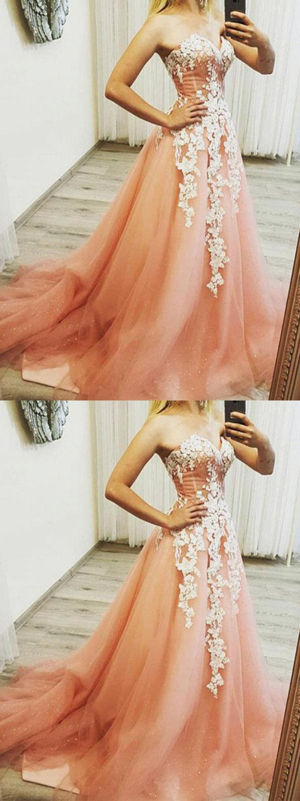 Pink plus size prom dress sweetheart vintage lace long prom dress