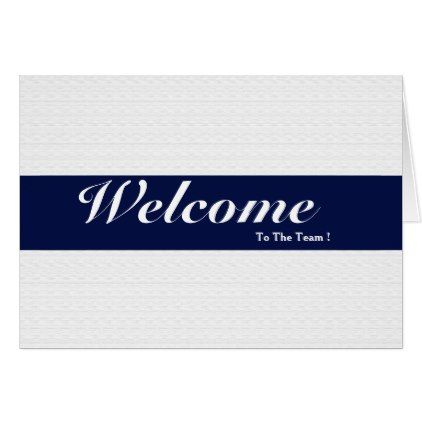 Welcome To The Team White Minimal Navy Blue Badge Card Zazzle Com Welcome To The Team Printing Double Sided Blue Gifts