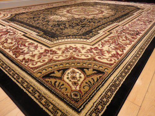 Amazon Com Large Black 8x11 Rug Persian Style Oriental