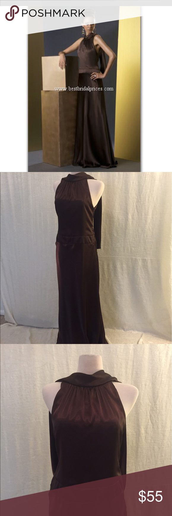 Evening prom dress styled after j lo style bari jay bari and mink