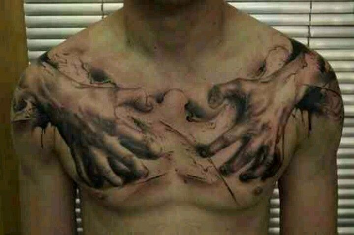 By Artist Florian Karg Zombie Hands Flesh Tattoo Zombie Tattoo Horrible Tattoos Cool Chest Tattoos Tattoos For Guys