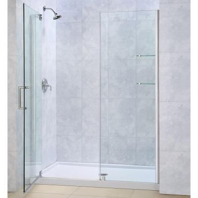 Coastal Shower Doors Illusion 41 In To 42 25 In X 70 In Semi Frameless Shower Door With Inline Panel In Brushed Nickel And Clear Glass Hl41il 70n C The Hom In 2020 Coastal Shower