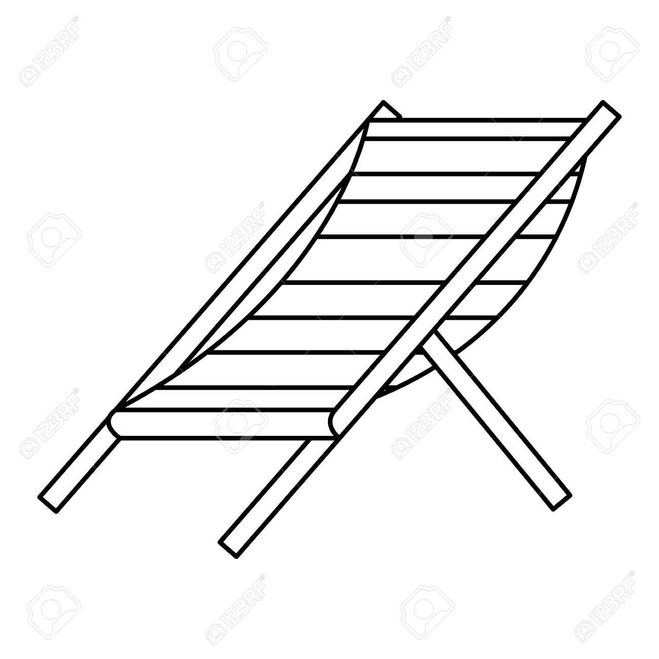Beach Chair Stripes Relax Icon Vector Illustration Design Sponsored Stripes Relax Beach Chair Illustrat Design Tutorials Design Social Media Logos