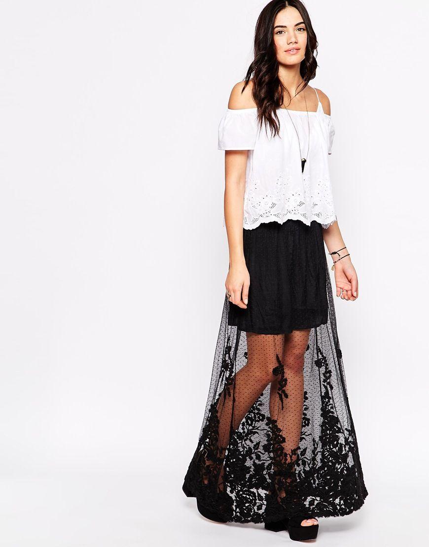 Candela Hattie Sheer Maxi Skirt   Dress Inspiration   Pinterest ...