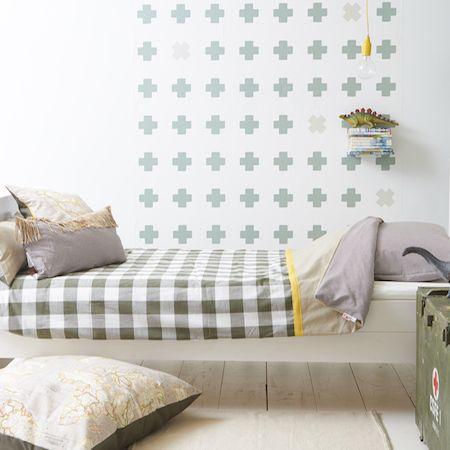 Wallpower Cross green   Wallstickers / Wallpaper   Bibelotte Conceptstore