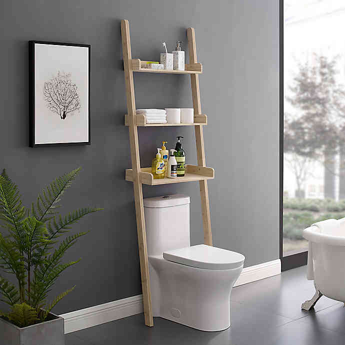 Haven No Tools Slim Bamboo Over The Toilet Space Saver In 2020