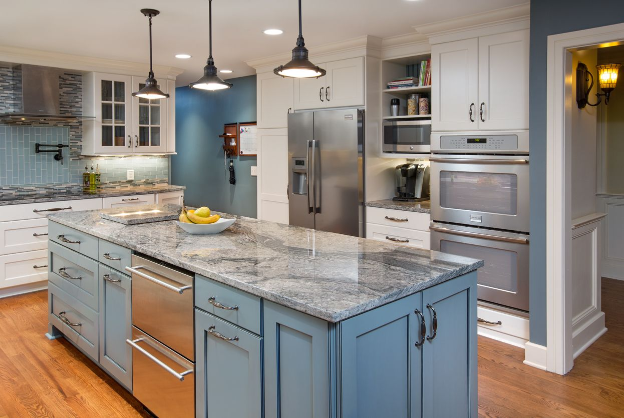 Hot Trend in Kitchen Remodeling Painted Cabinets   Kitchen Kraft ...