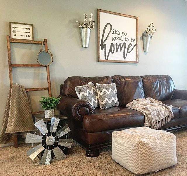 Best Axiom Sofa By Ashley Homestore Brown Leather 100 Brown Living Room Farm House Living 640 x 480