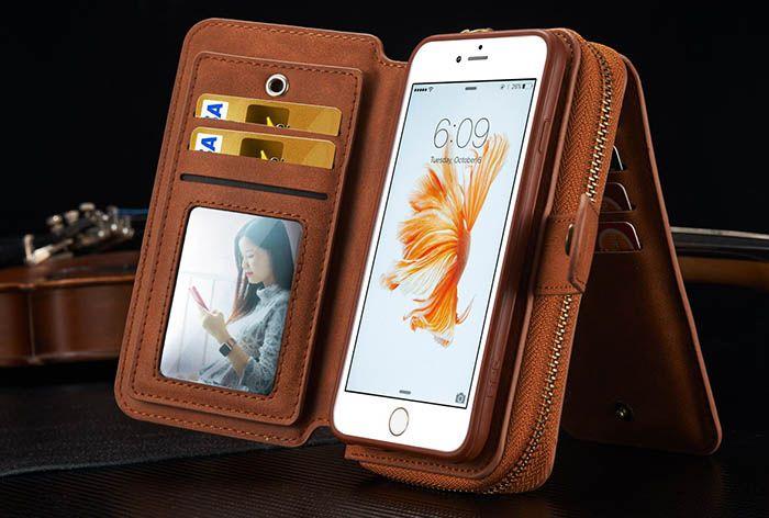 BRG iPhone 6S Plus/ 6 Plus Multi-functional 2 in 1 Zipper Wallet ...