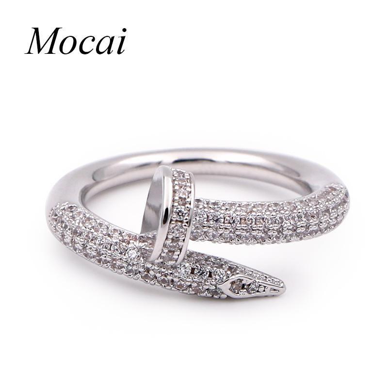 Cartier Juste Un Clou Copy Nail Ring With Swarovski Crystals ...