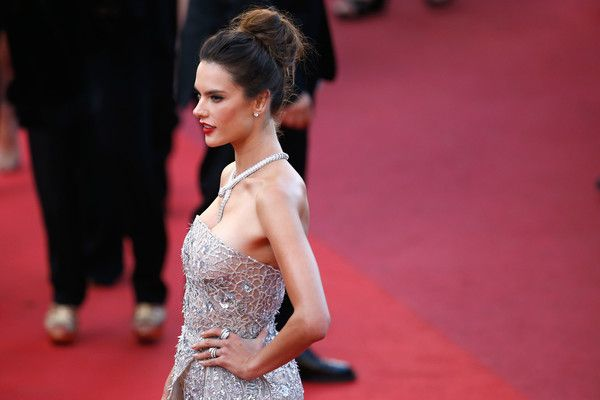 Loose Bun Lookbook: Alessandra Ambrosio wearing Loose Bun (4 of 38). Alessandra Ambrosio styled her hair into a loose high bun for the Cannes premiere of 'The Last Face.'