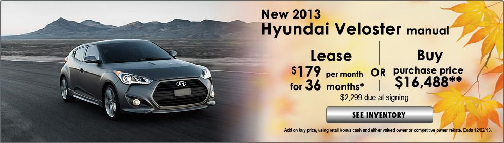 Hyundai Veloster Special!