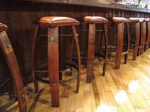 Bar Stools Made From Old Barrels Must Have Old House Barrel