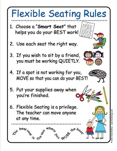 Getting Started with Flexible Seating (Free Rule Chart - classroom seating chart template free