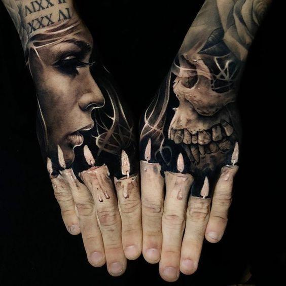 284 Tatuajes De Calaveras Skull Fotos Tight Tatt