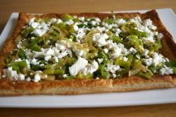 leek onion and feta tart