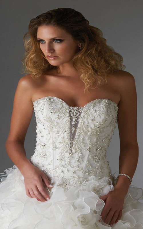 semicathedral train luxurious sweetheart laceup wedding