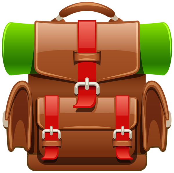 Brown Tourist Backpack Png Clipart Image Clip Art Clipart Images Free Clip Art