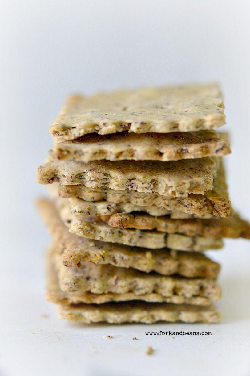 Gluten Free Vegan Rosemary Crackers Recipe Vegan Crackers