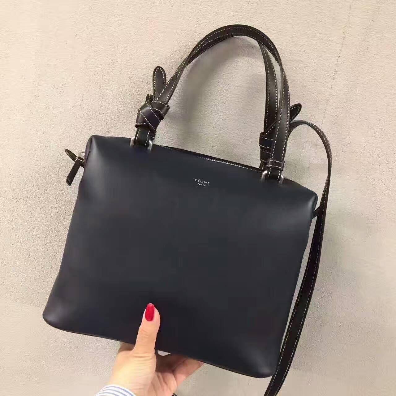 Summer 2017 Celine Small Soft Cube Bag in Black Smooth Calfskin ... b6b842b463e47