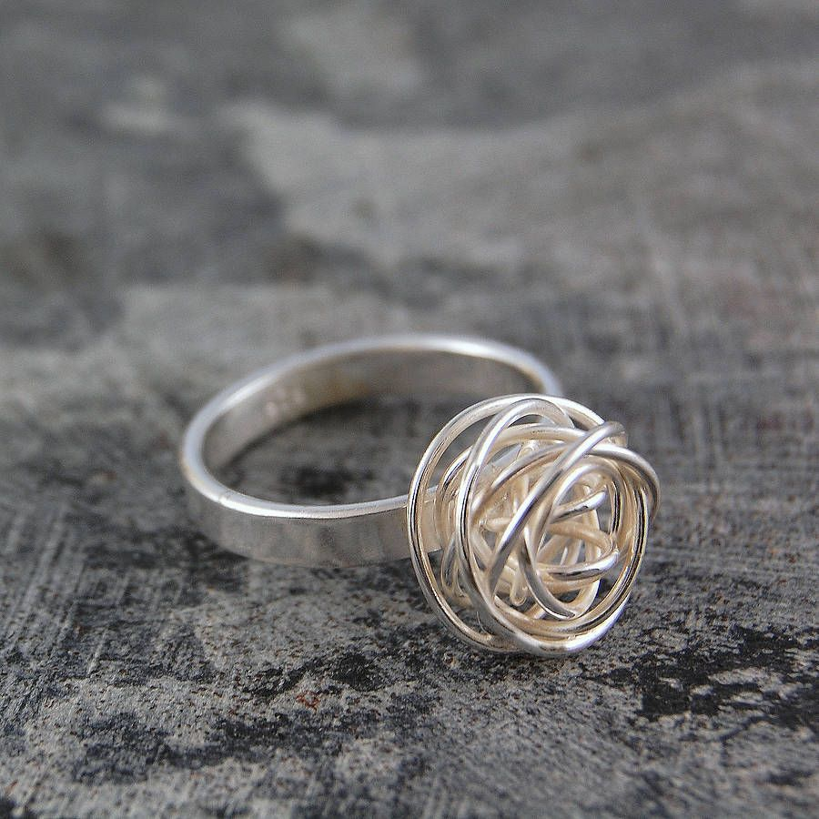 bdd3ad87e Click here to buy this delightful Sterling silver nest band ring. #Otisjaxon  #Jewellery #wire