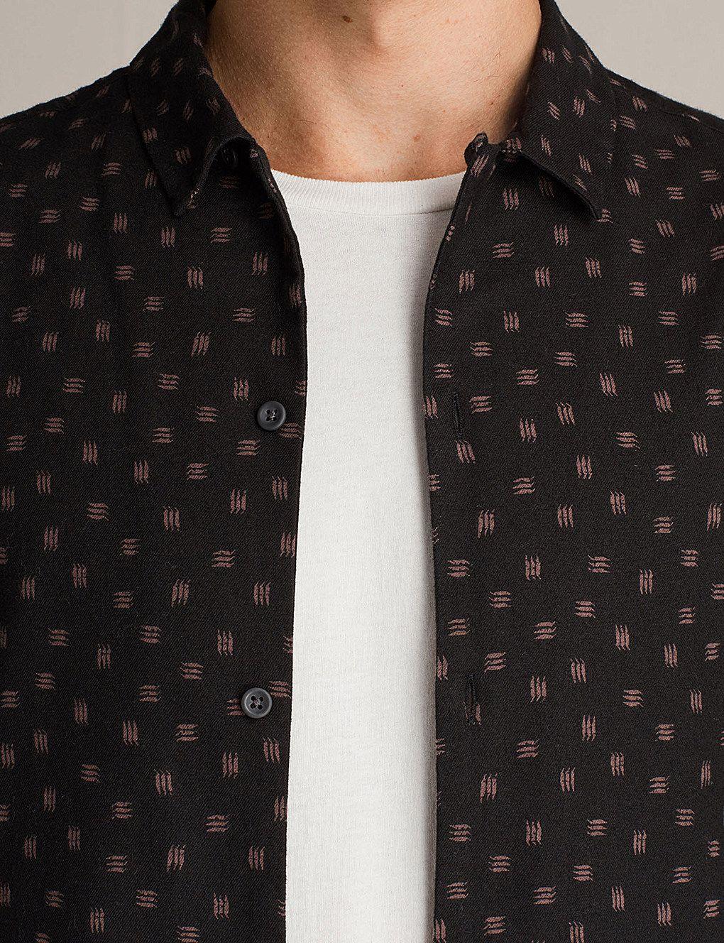 96887668301 Kiefer chilli screen-print brushed flannel shirt   AOP   Shirts ...