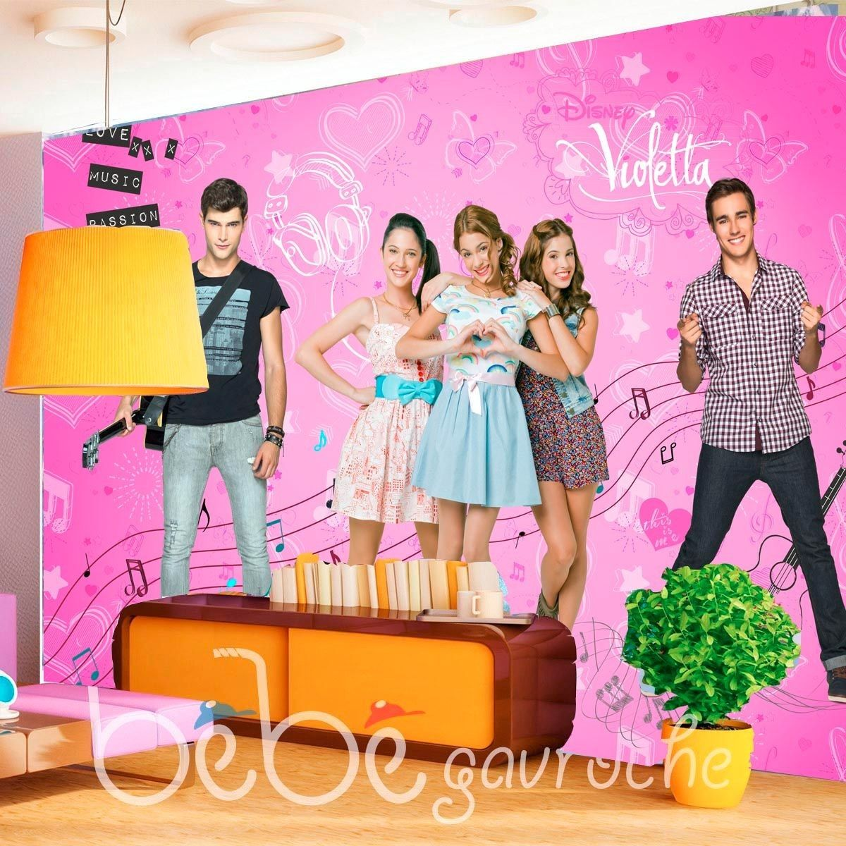 Papier Peint Xxl Violetta Disney Channel - Taille : Taille Unique